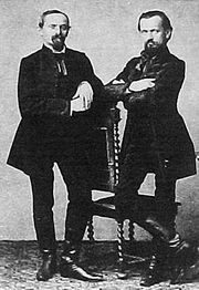 Portrait of Franz (left) and Carl Doppler, 1853