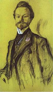 Portrait of Konstantin Balmont, 1905